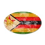 Zimbabwe Flag 38.5 x 24.5 Oval Wall Peel