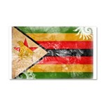 Zimbabwe Flag Car Magnet 20 x 12