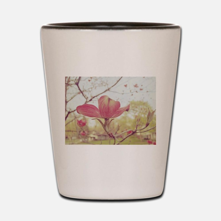 Cute Pink dogwood Shot Glass