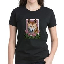 Mothers Day Pink Tulips Dingo Tee