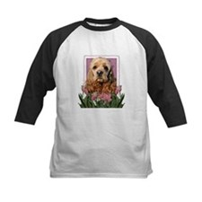 Mothers Day Pink Tulips Cocker Tee