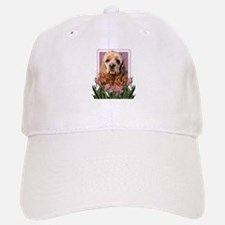 Mothers Day Pink Tulips Cocker Baseball Baseball Cap
