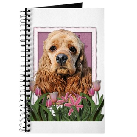 Mothers Day Pink Tulips Cocker Journal