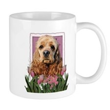 Mothers Day Pink Tulips Cocker Mug
