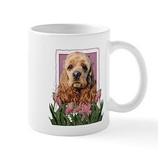 Mothers Day Pink Tulips Cocker Small Mug