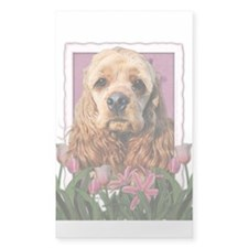 Mothers Day Pink Tulips Cocker Decal