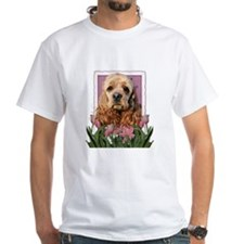 Mothers Day Pink Tulips Cocker Shirt