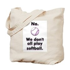 Lesbian Softball Tote Bag