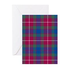 Tartan - Fraser of Lovat Greeting Cards (Pk of 10)