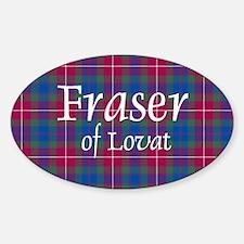 Tartan - Fraser of Lovat Sticker (Oval)
