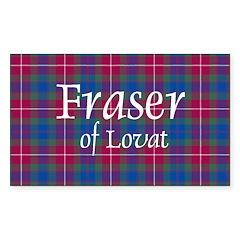 Tartan - Fraser of Lovat Sticker (Rectangle)