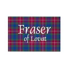 Tartan - Fraser of Lovat Rectangle Magnet (10 pack
