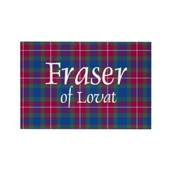 Tartan - Fraser of Lovat Rectangle Magnet (10 pack
