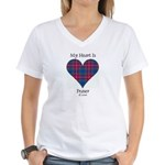 Heart - Fraser of Lovat Women's V-Neck T-Shirt