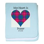 Heart - Fraser of Lovat baby blanket