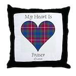 Heart - Fraser of Lovat Throw Pillow