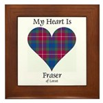 Heart - Fraser of Lovat Framed Tile