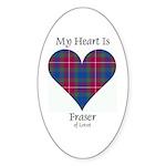 Heart - Fraser of Lovat Sticker (Oval 50 pk)