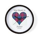 Heart - Fraser of Lovat Wall Clock