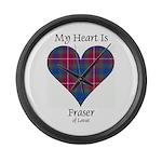 Heart - Fraser of Lovat Large Wall Clock