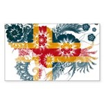 Alaska Flag Sticker (Rectangle 50 pk)