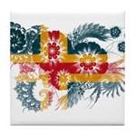 Alaska Flag Tile Coaster
