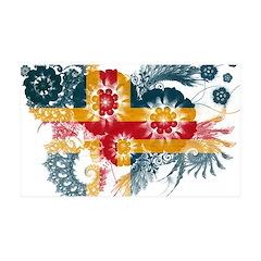 Alaska Flag 38.5 x 24.5 Wall Peel