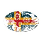 Alaska Flag 22x14 Oval Wall Peel
