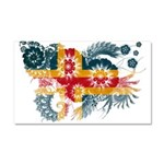 Alaska Flag Car Magnet 20 x 12