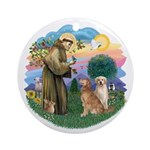 StFrancis-TwoGoldens Ornament (Round)