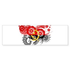 Angola Flag Bumper Sticker