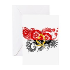 Angola Flag Greeting Cards (Pk of 10)