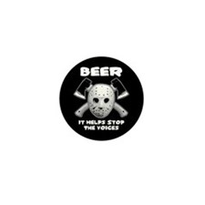 Beer Helps Stop The Voices Mini Button