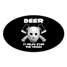Beer Helps Stop The Voices Decal