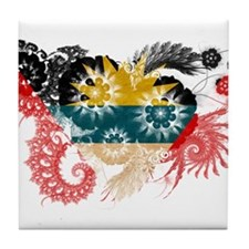 Antigua and Barbuda Flag Tile Coaster