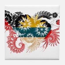 Antigua and Barbuda Flag Tile Coaster
