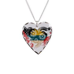 Antigua and Barbuda Flag Necklace