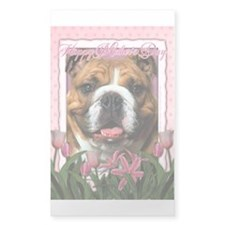 Mothers Day Pink Tulips Bulldog Decal