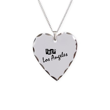 I rep Los Angeles Necklace Heart Charm