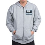 Anchorage AK Record Snow Zip Hoodie