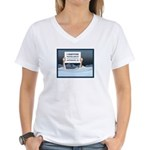 Anchorage AK Record Snow Women's V-Neck T-Shirt