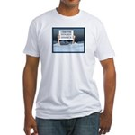 Anchorage AK Record Snow Fitted T-Shirt