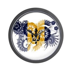 Barbados Flag Wall Clock
