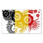 Belgium Flag Sticker (Rectangle 50 pk)