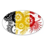 Belgium Flag Sticker (Oval 10 pk)
