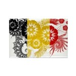 Belgium Flag Rectangle Magnet (10 pack)