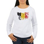 Belgium Flag Women's Long Sleeve T-Shirt