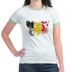 Belgium Flag Jr. Ringer T-Shirt