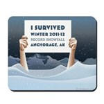 Anchorage AK Record Snow Mousepad