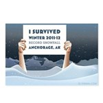 Anchorage AK Record Snow Postcards (Package of 8)
